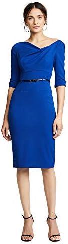 Black Halo Women s 3 4 Sleeve Jackie O Dress Cobalt 0 product image