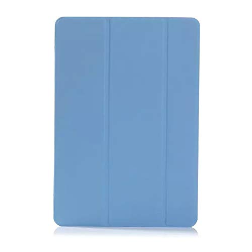 RZL PAD & TAB cases For Samsung Galaxy Tab S3 9.7 inch, PU + PC Flip Stand Case Transparent PC Back Cover Tablet Case For Samsung Galaxy Tab S3 9.7 inch SM T820 T825 (Color : Blue)