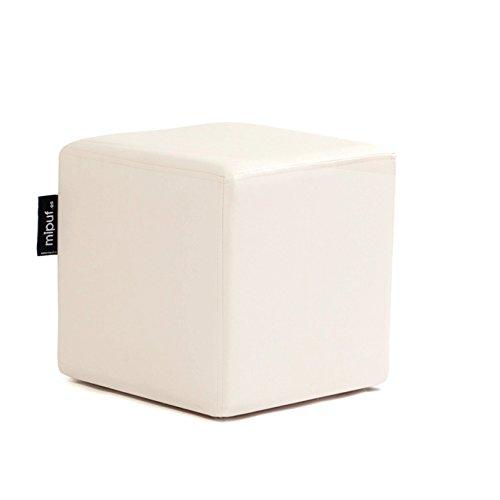 MiPuf - Puff Cube Original Tamaño 40x40x40 - Polipiel - Color Beige