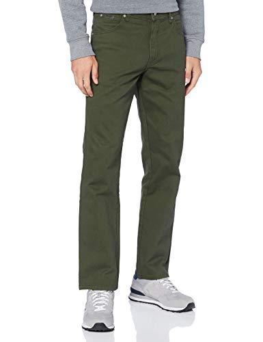 Wrangler Herren Texas Jeans, Moss Green, 35W / 34L