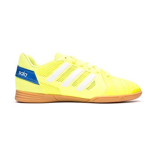 adidas Top Sala J, Zapatillas de fútbol, Amasol/FTWBLA/AZUGLO, 35.5 EU