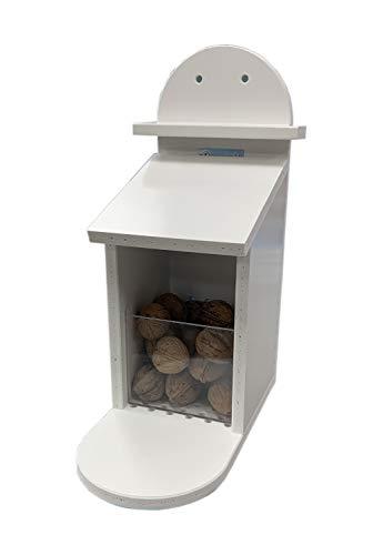 TropicShop Eichhörnchen Futterbox | Eichhörnchen Futterstation - Wetterfest aus Kunststoff - Futterautomat/Futterspender für Eichhörnchen