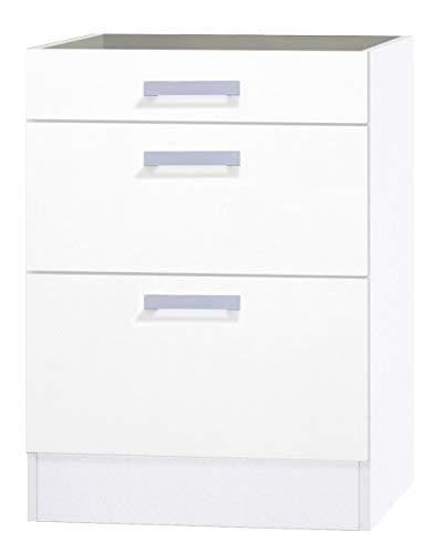 OPTIFIT Kult Unterschrank ohne Arbeitsplatte 3 Schubladen »Oslo«, weiß, 60 cm breit, UO636-9+KUOS