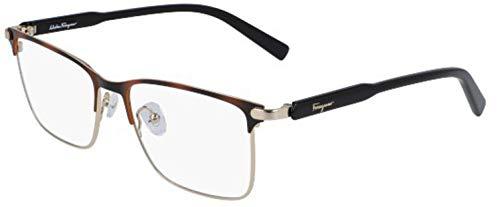 FERRAGAMO SF2179, Sonnenbrille aus Metall, Shiny Gold/Tortoise, Unisex, Erwachsene, mehrfarbig, Standard