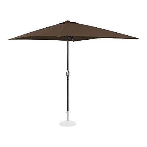Uniprodo Sonnenschirm groß Uni Umbrella SQ2030BR Gartenschirm (rechteckig, 200 x 300 cm, braun)