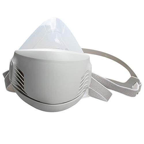 S-TROUBLE Filtro AG100 Algodón Silicona Soldadura Industrial Escudo Antipolvo Respirador antipartículas Cubierta Transpirable Protección sellada a Prueba de Polvo Filtro reemplazable