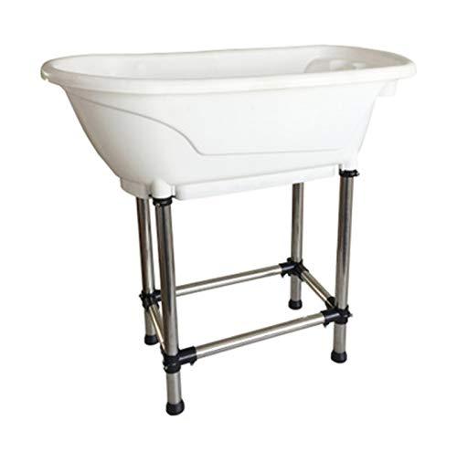 GIAOGIAO Haustierhundkatze Badewanne Dusche Pflege Tragbare Badewanne (Color : White)