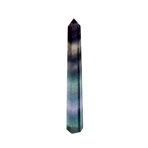 BESPORTBLE Natürliche Kristallstäbe Sechseckiger Quarzstab 6 Facetten Single Point Bunte Fluorit Säule für Bar Home Wohnheim Speichern Zufällige Stilgröße 9. 1-10Cm Zufälligen Stil