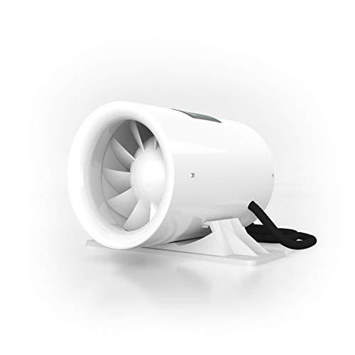 TerraBloom 4' Silent Inline Booster Fan, 47 CFM, Intake Quiet Mixed Flow Energy Efficient...