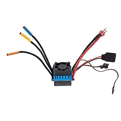 LIZONGFQ Controlador de Velocidad eléctrico ESC sin escobillas 60A con SBEC 5.8V / 3A para Coche RC 1/10