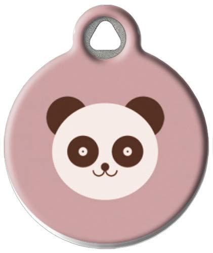 Panda Bear - Custom Pet ID Tag for Dogs and Cats - Dog Tag Art - Small Size