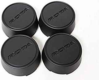 Rota Wheels Replacement Wheel Center Caps - Moda - Flat Black - Set of 4 Caps