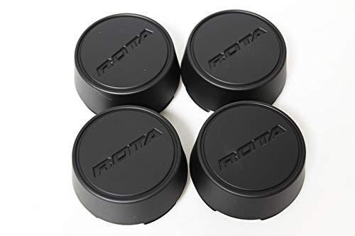 Rota Wheels Replacement Wheel Center Caps - Moda - Flat Black - Set of 4 Caps