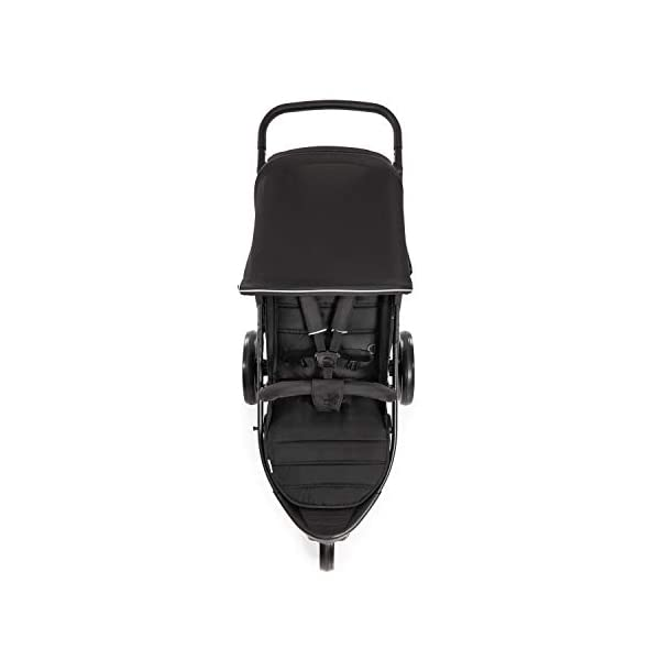 Hauck Rapid 3 Wheel Pushchair up to 25 kg with Lying Position from Birth, Small Foldable with One Hand, Height Adjustable Push Handle, Large Basket - Black Hauck LONG USE: The pushchair is suitable from birth (in lying position or in combination with the separate 2-in-1 Carrycot) and loadable up to 25 kg (seat unit 22 kg + basket 3 kg) EASY TO FOLD: This stroller folds away compactly and can be then carried with one hand only by the release loop COMFORTABLE: For the kid thanks to backrest and footrest adjustable into flat position, as well as for parents thanks to height-adjustable handle and large shopping basket 2