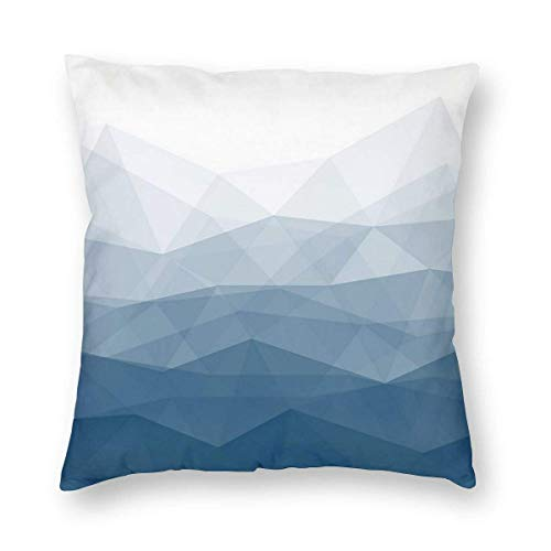 Square Throw Pillowcase Blue Cube Pillow Cases Couch 16 X 16 Inch Christmas Decorative Cushion Covers