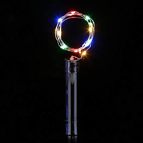 No-branded PDHCC 3pcs Wine Bottle String Lights Silver LED Battery Powered Cork Shape Glass Bottle Stopper Lamp Garlands Decor Light (Emitting Color : Changeable, Size : Free)