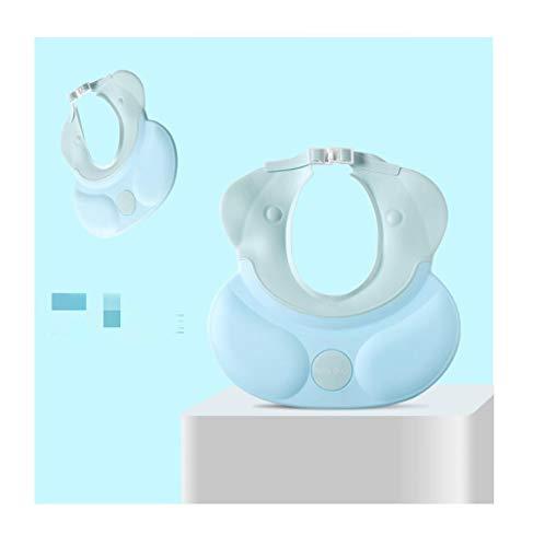 Baby shampoo Artefakt siliconen kind waterdichte gehoorbescherming, kind wassen haar douchekap instelbaar blauw