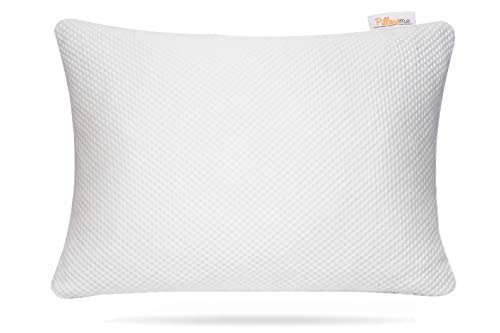 Pillow me - Cuscino in memory foam triturato, regolabile, per dormitori laterali e schiena, cuscino ortopedico per supporto collo e sollievo dal dolore, ipoallergenico, in bambù lavabile