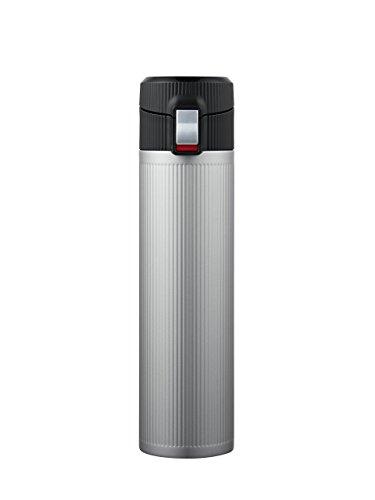 Lock & Lock Drinkfles, titanium vacuüm fles, thermobeker om mee te nemen, vacuüm isolatiefles voor koffie, thee en koude, 330 ml roestvrij staal