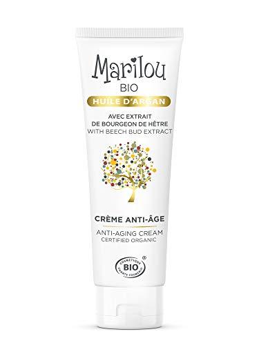 Marilou Bio - Gamme Argan - Crème Anti-Age - Tube de 50 ml - La Crème de la Crème : Hydrate, Raffermit, Régénère