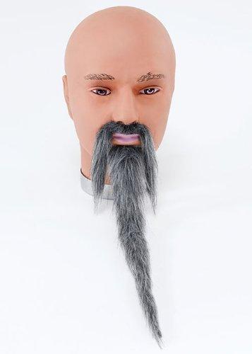 Assistant gris fausse Moustache et barbe Set