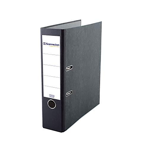 SOE Schlitzordner 3326 A4 80mm breit schwarzer Rücken Deckblatt