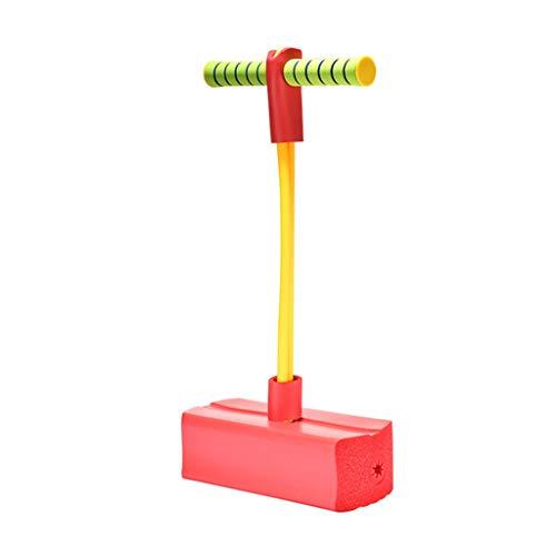 WENJIA Pogo Stick Pogos Saltarines Pogo Stick para Niños Childrens Fun Safe Soft Pogo Stick,Safe Soft Saludable Y Divertido,Ayuda A Entrenar El Equilibrio (Color : Red)