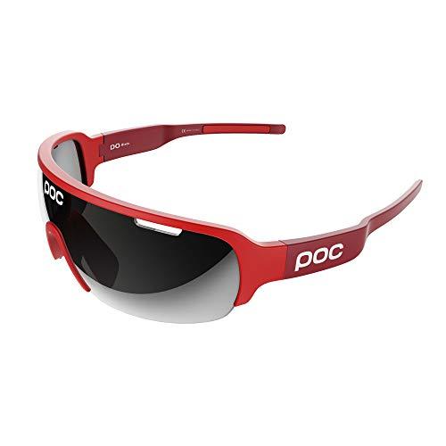 POC DO Half Blade Sonnenbrille, Unisex, für Erwachsene Einheitsgröße Rot (Bohrium Red)