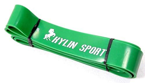 Mdsfe Elastische riem voor fitness, pull-up riem van latex, 4,4 cm, groen met brede band, elastische riem van 50 tot 125 pond Green-a1366
