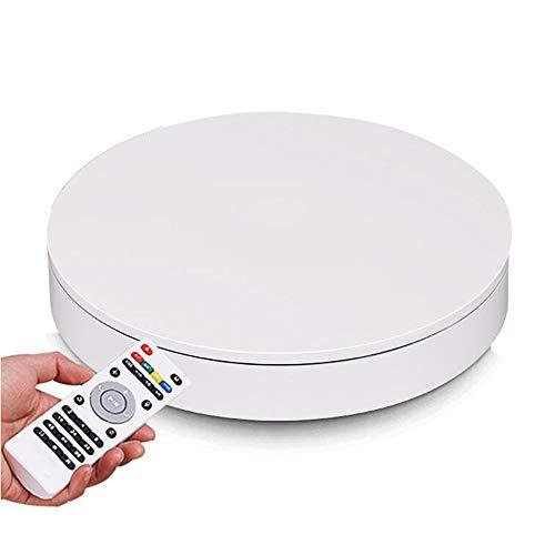 HHXD 360° Drehplattform Fernbedienung,Elektrisch Drehteller Für Fotografie,Produktanzeige,Kuchen/Weiß / 50cm×10cm