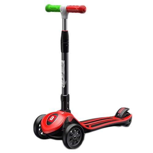 LZL Roller für Kinder Schwerkraftlenkung Faltungsroller für Kinder Alter 3-12 Jahre alt mit verstellbarem...