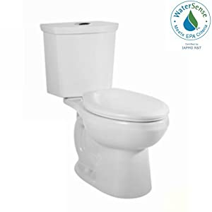 """Item may ship in more than one box and may arrive separately Round front two piece siphonic action dual flush toilet High efficiency, low consumption and WaterSense certified Chrome-plated top mounted push button actuator 12"""" rough in Seat is not inc..."""