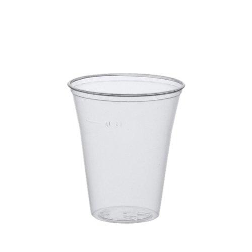 Papstar Trinkbecher / Plastikbecher 0.3l (75 Stück) Ø 9.5 x 11 cm, Polystyrol, transparent mit Füllstrich und Schaumrand, für Ausflüge und Feiern wie Grillfeste und Wanderungen, #16159
