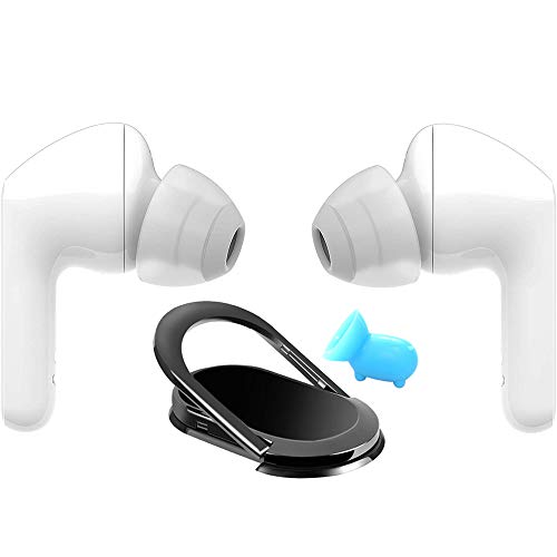 LG HBS-FN6.ACUSWHI Tone Free HBS-FN6 True Wireless Bluetooth Earbuds White Bundle with Deco Gear Universal Smartphone Accessory Kit