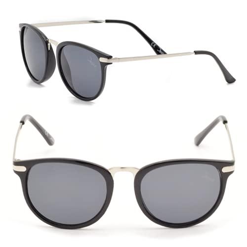 Desire WildNature aus recyceltem PET, inkl. Spende, UV400, verspiegelt, Frühlingscollection, Damen und Herren, schwarze Sonnenbrille mit schwarzen Gläsern