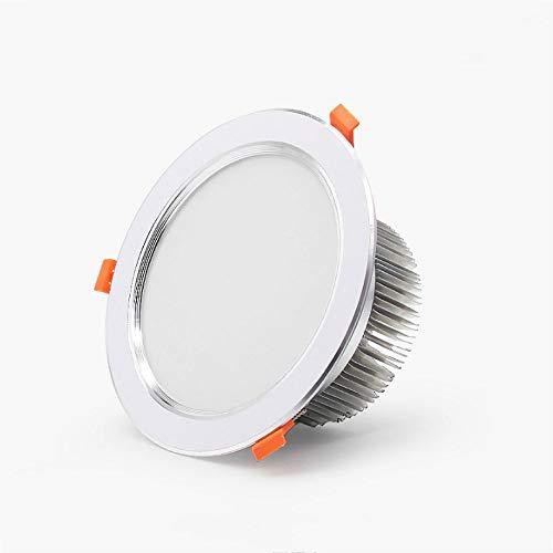 Qyyru 3000K - 6000K Downlight LED, 7W / 9W COB Lámpara de Panel Oculta Lavado de Pared Integrado Proyector de Hotel Alto CRI Iluminación de Carcasa de Aluminio Plateado Decoración