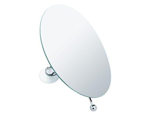 SANWOOD Hannah Kosmetikspiegel 5-Fach Vergrößerung Aufsatzspiegel mit Saugnäpfen, Kunststoff verchromt, Chrom, 6.5 x 15 x 21.5 cm