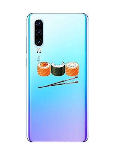 Oihxse Funda Huawei Honor 8C, Ultra Delgado Transparente TPU Silicona Case Suave Claro Elegante Creativa Patrón Bumper Carcasa Anti-Arañazos Anti-Choque Protección Caso Cover (A13)