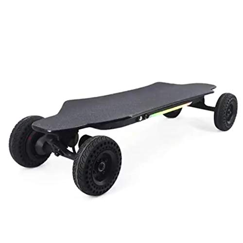 KHUY Skateboard Longboard Elettrico 40 km/h, Doppio Motore, Longboard Elettrico off Road, LED Cruiser Skate Elettrico in Acero 8 Strati con Telecomando per Adulti Adolescenti