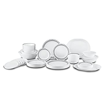 Corelle City Block Dinnerware Set (74-Piece, Service for 12)
