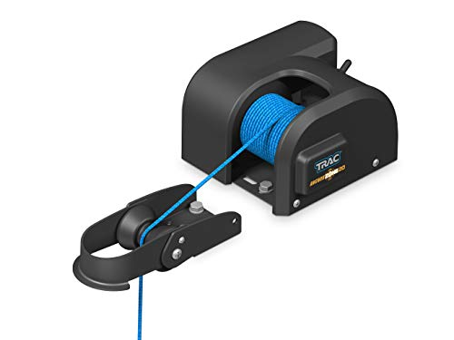 Trac Outdoors AnchorZone 20 Electric Anchor Winch - Anchors Up to 20 lb. - Includes 100-feet of Pre-Wound Anchor Rope with Use (69000) , Black