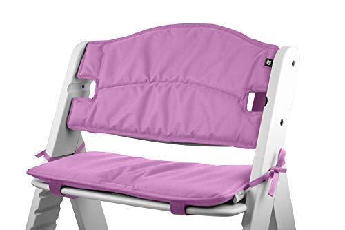 Tinydo® Hochstuhl-Sitzkissen optimal für Hauck Alpha und ähnliche Treppenhochstühle 2teilg. Set mit Memory-Schaum-Dämpfung Sitzverkleinerer-Auflage für Babystühle rutschfest pflegeleicht (Violett)