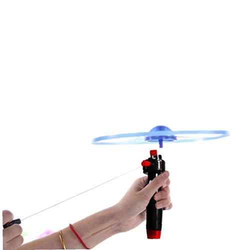 4 Establece la hélice juego hélice del platillo volante del vuelo del bumerán de Spinner platillo volante de juguete mosca de la diversión Juguetes para interiores o exteriores (colores aleatorios)