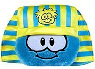 "Club Penguin Super Rare - Disney 4"" Egyptian Pharaoh Blue Puffle Plush + Coin to Unlock 2 Treasure Book Items of Your Choice!"
