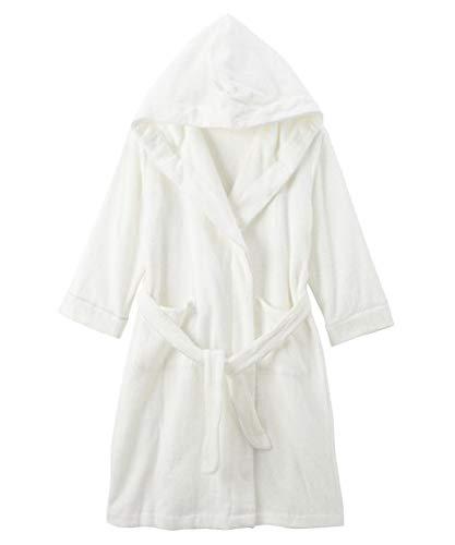 [nissen(ニッセン)] パジャマ・ルームウェアトップス 標準サイズ パジャマ・ルームウェアトップス 標準サイズ パジャマ・ルームウェア 綿混タオル地で作ったフード付きバスローブ オフホワイト M〜L