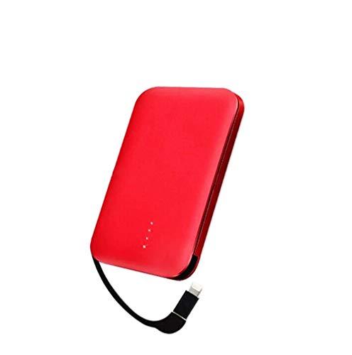 Tindon モバイルバッテリー 8000mAh ケーブル内蔵 大容量 軽量 薄型 コンパクト 急速充電 2台充電可能 ipho...
