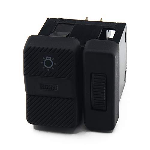 ASDFHUIOX Interruptor de la lámpara de Faros para Volkswagen/Apto para VW Passat B3 B4 Polo Transporter Eurovan T4 357 941 531, 357941531 (Color : Black)