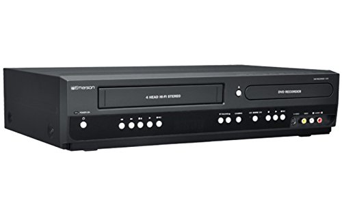 Emerson ZV427EM5 DVD/VCR Combo DVD Recorder and VCR Player With HDMI 1080p DVD/VHS, Progressive Scan Video Out, 5-Speed for Up to 6-hours Recording