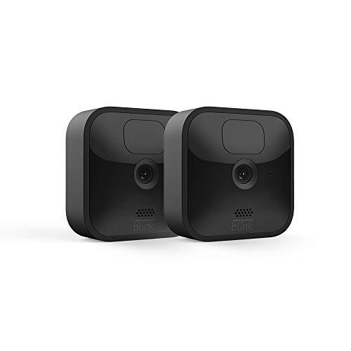 Die neue Blink Outdoor – kabellose, witterungsbeständige HD-Sicherheitskamera mit zwei Jahren Batterielaufzeit, Bewegungserfassung und einem kostenlosen Testzeitraum für Blink-Abonnements | 2 Kameras