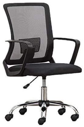 Elegante silla oficina, silla giratoria Sillón de la silla de la oficina | Soporte de abdomen ergonómico | Fácil de ensamblar | Para recepción Sala de conferencias de comedor | Alta capacidad de carga
